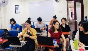Đây là khóa học xuất nhập khẩu mình học,trong lớp toàn người đi làm là chủ yếu bạn nên bạn an tâm nha ( Ảnh: Do Tác giả cung cấp)